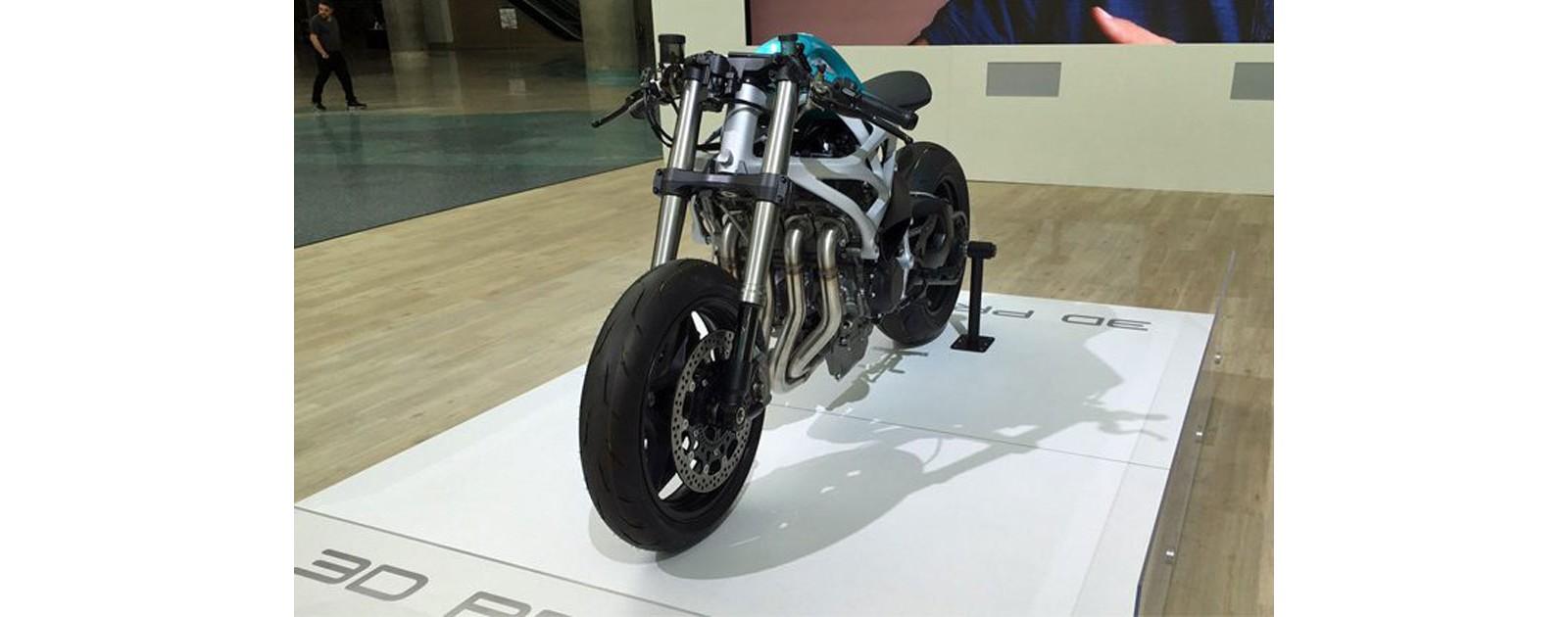 Напечатанный мотоцикл на 3D принтере