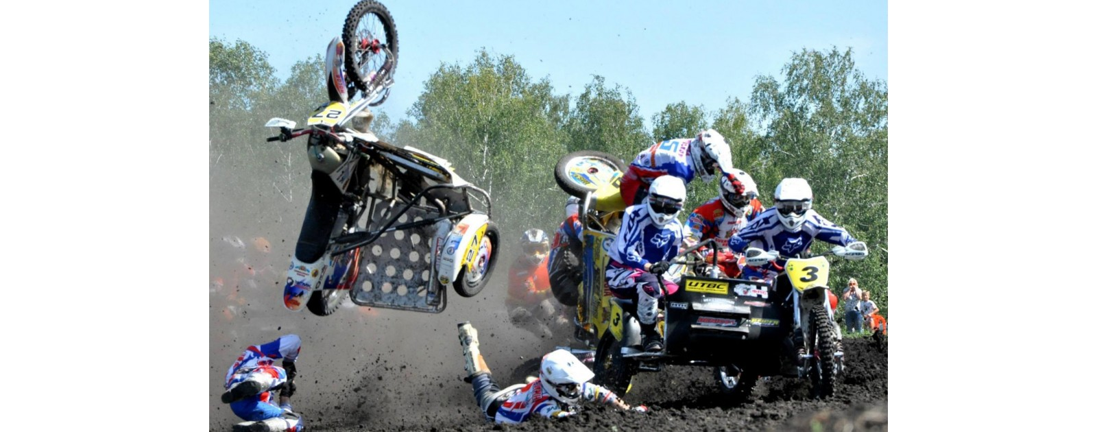 Мотокросс на Буковине, чемпион мира получил травму на старте